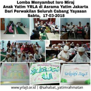 Lomba Menyambut Isra Mi'raj Di Asrama Yatim YRLAJT