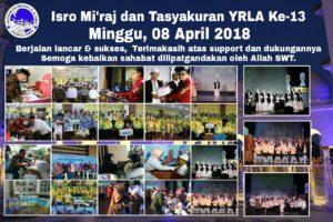 Event Isro Mi'raj dan Tasyakuran YRLA-JT Ke-13 Bersama 400 Anak Yatim
