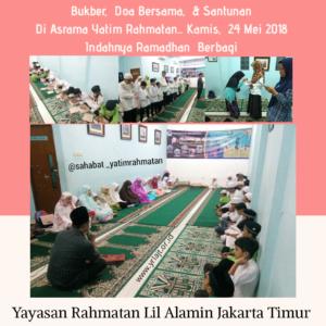 Buka Bersama dan Doa Bersama Anak Yatim Di Asrama Yatim Jakarta