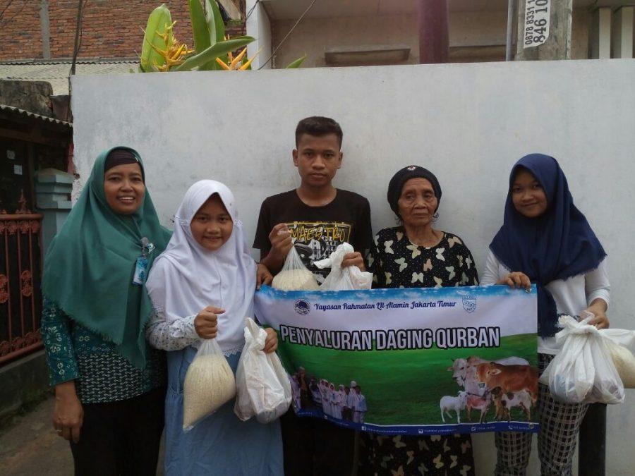 Qurban 1438 H Bersama Yatim & Dhuafa Yayasan Rahmatan Lil Alamin Jakarta Timur