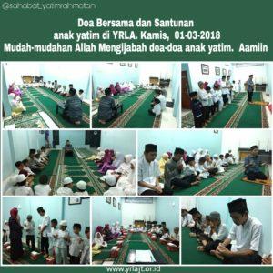 Kegiatan Rutin Doa Bersama Anak Yatim di Yayasan Rahmatan Lil Alamin Jakarta Timur