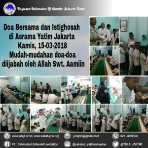 Do'a Bersama Anak Yatim dan Istighosah di Asrama Yatim Jakarta