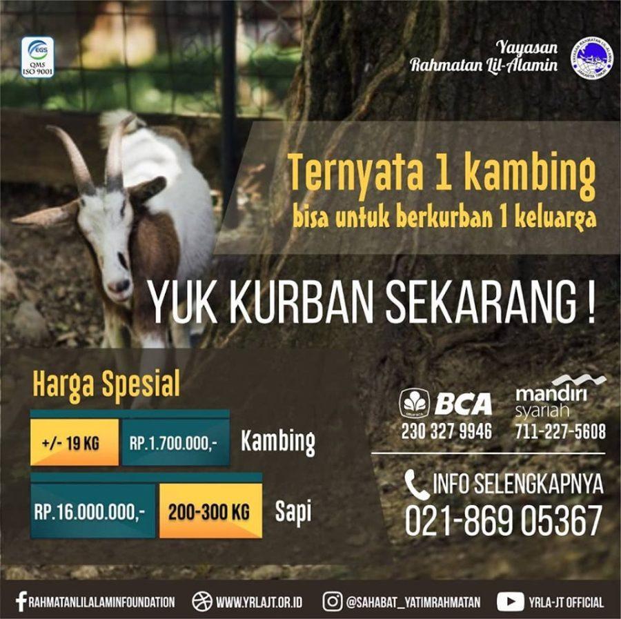 Bolehkan kurban 1 kambing untuk 1 keluarga ?