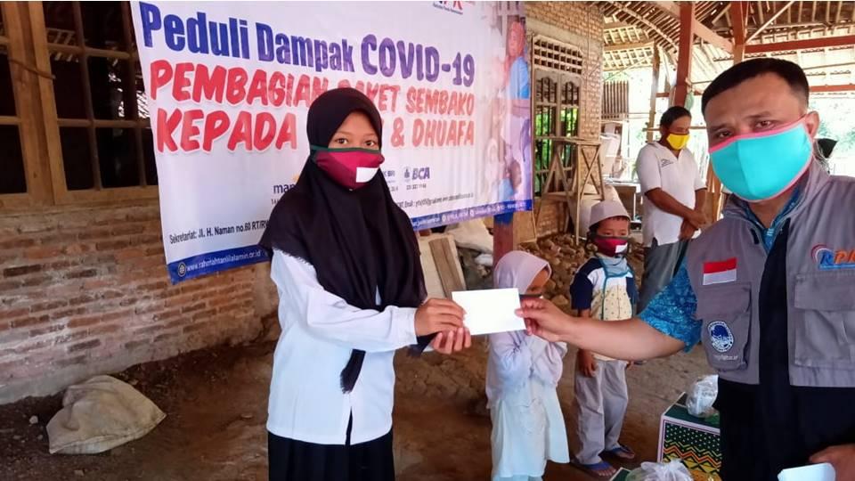 RPK Bagikan Paket Sembako Kepada Yatim Dhuafa di Bogor