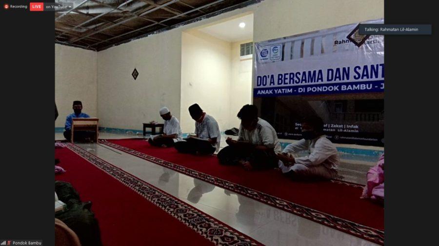 Do'a Bersama Virtual 10 Daerah Binaan Yayasan Rahmatan Lil-Alamin